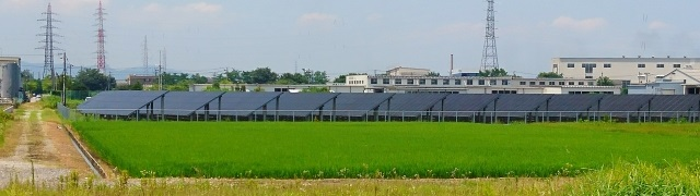 太陽光発電、田んぼ
